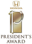 Honda Presidential Award Winner