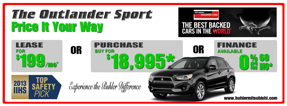 Buhler Mitsubishi Lancer Price It Your Way, Lease, Purchase, Finance 732-544-5155.  Ask for Danny Cruz, Bill Leonard, Queen