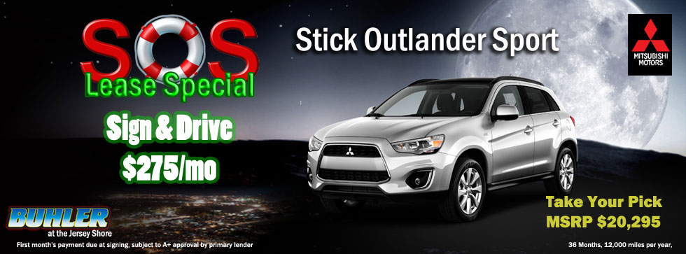 Buhler Mitsubishi Outlander Sport Lease Specials Sign and Drive Eatontown NJ