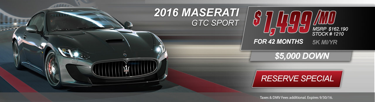2016 Maserati GTC