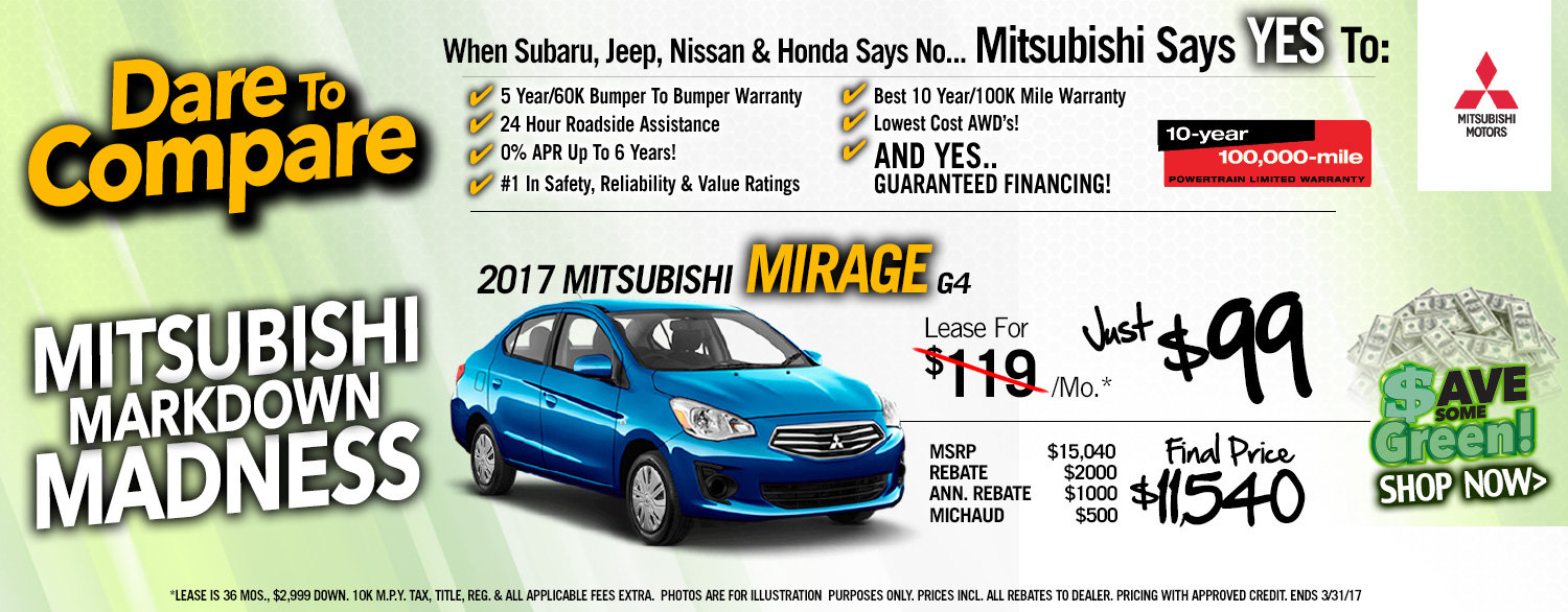 Mirage Lease Special