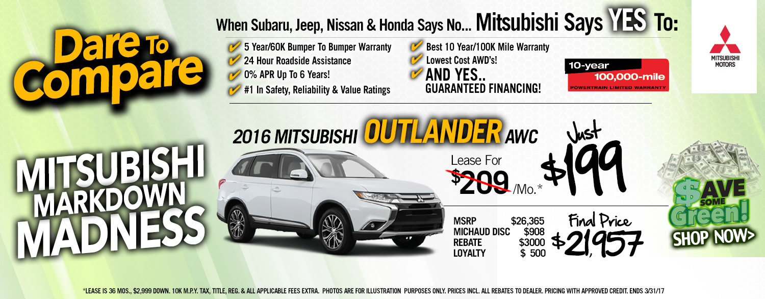 Outlander Lease Special
