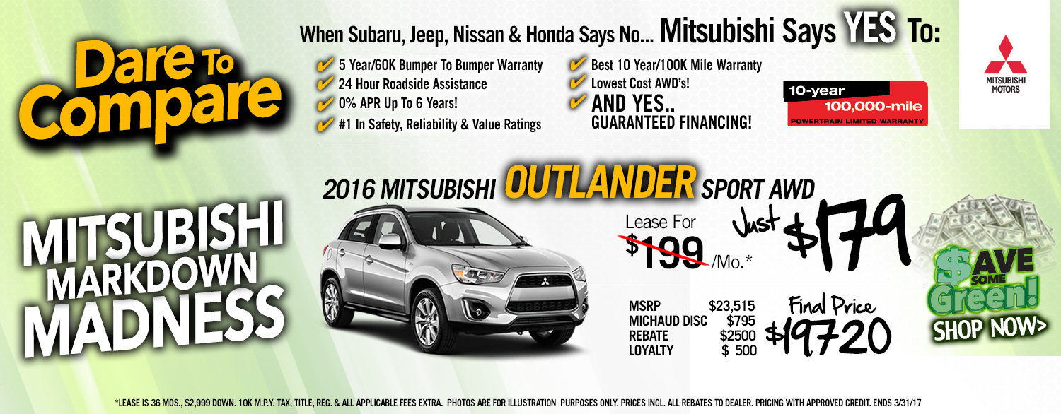 Outlander Sport Lease Special
