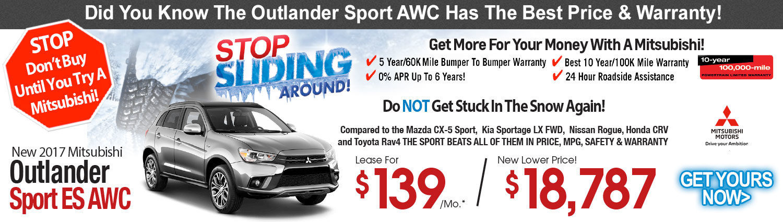 2017 Mitsubishi Outlander Sport ES AWC Lease Special