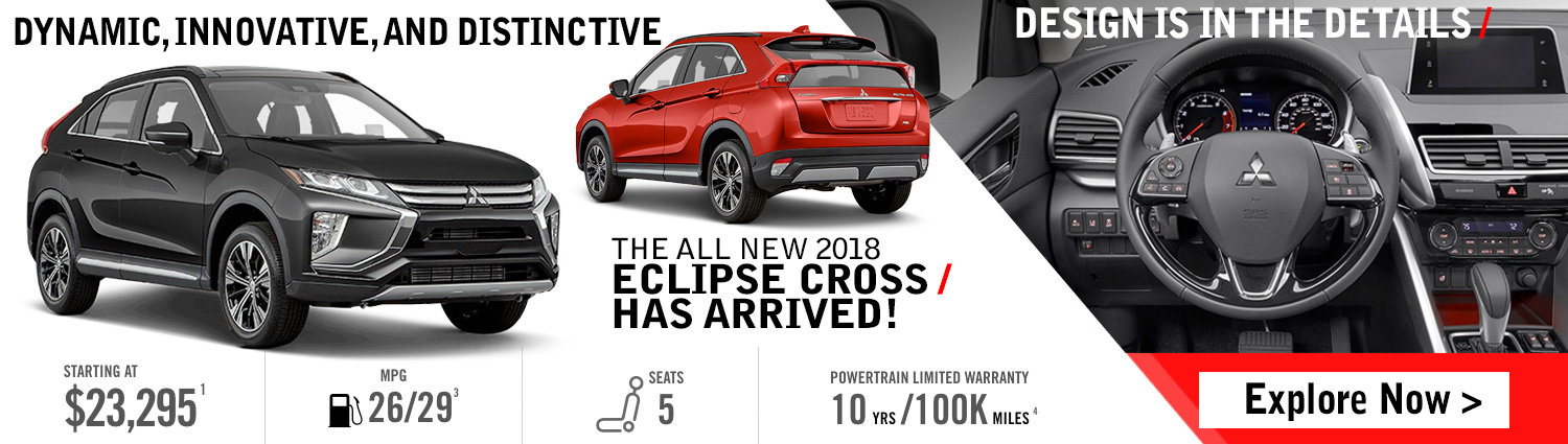 The All New 2018 Eclipse Cross Has Arrived!