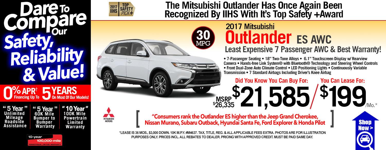 2017 Mitsubishi Outlander ES AWC