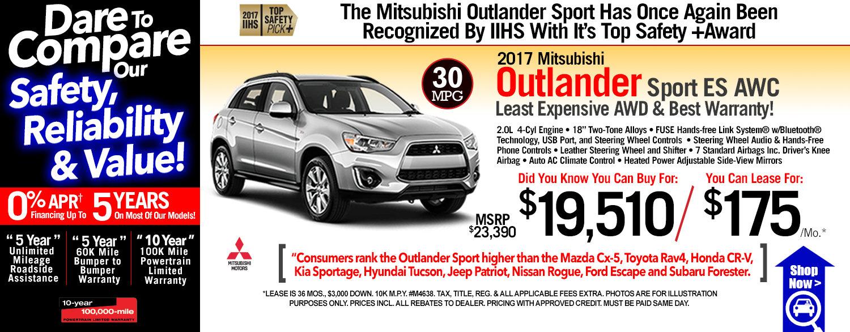 2017 Mitsubishi Outlander Sport ES AWC
