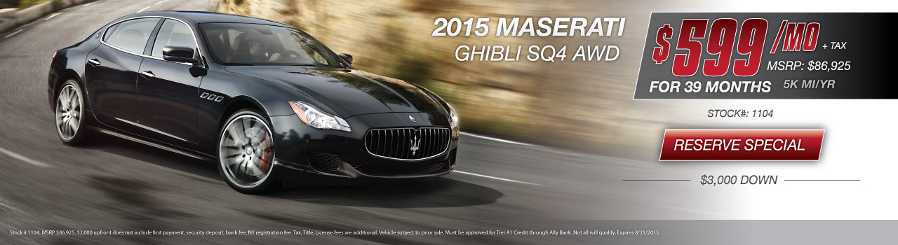 Maserati Ghibli Special NY