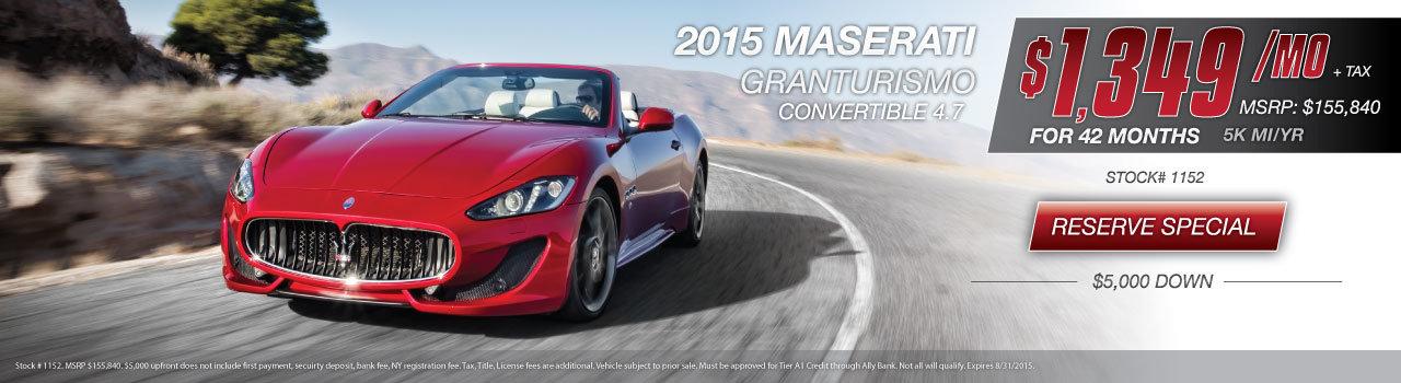 Maserati GranTurismo Convertible Special NY
