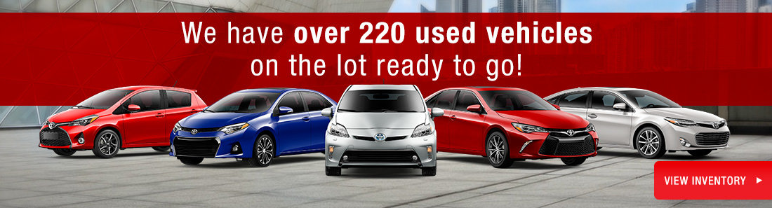 Over 220 used vehicles in stock