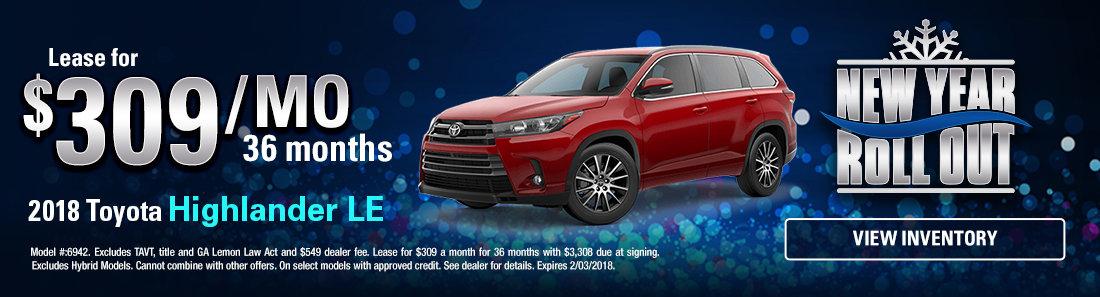 2018 Toyota Highlander LE Sale in Savannah GA
