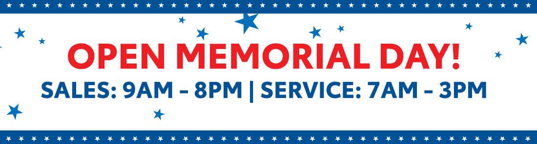 Open Memorial Day in Savannah GA