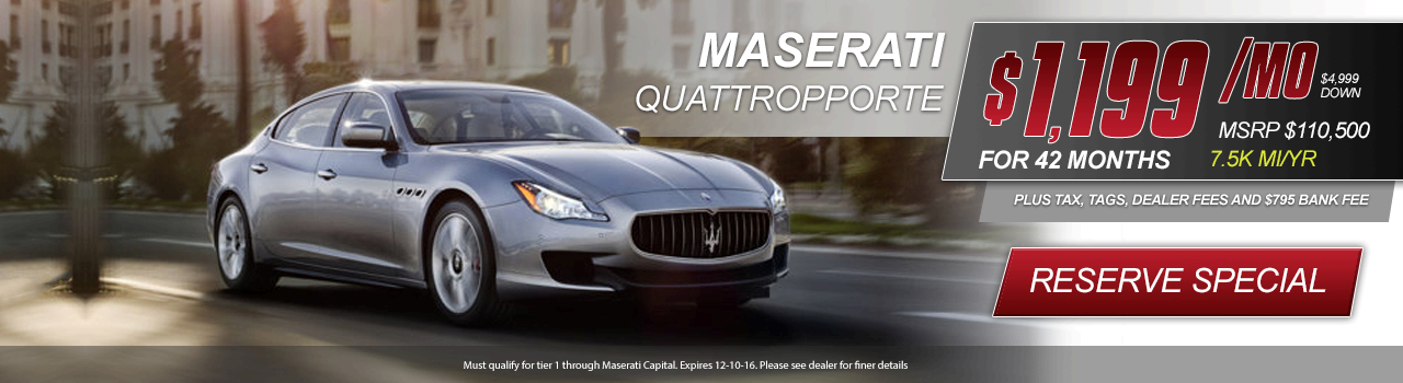 Maserati Quattroporte Offer