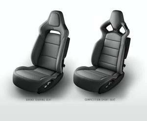 Gray 2014 Corvette Seats