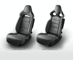 Gray 2014 Corvette Seats