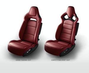 Burgundy 2014 Corvette Seats