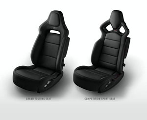 Black 2014 Corvette Seats
