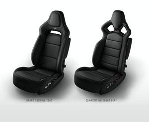 Black 2014 Corvette Seats
