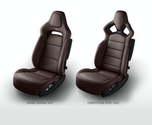 Brown 2014 Corvette Seats