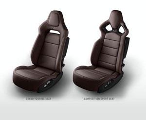 Brown 2014 Corvette Seats