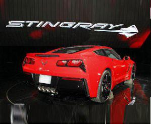 2014 Corvette Rear View