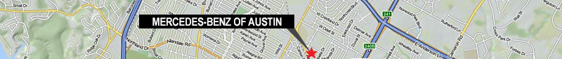 Mercedes-Benz Austin Map