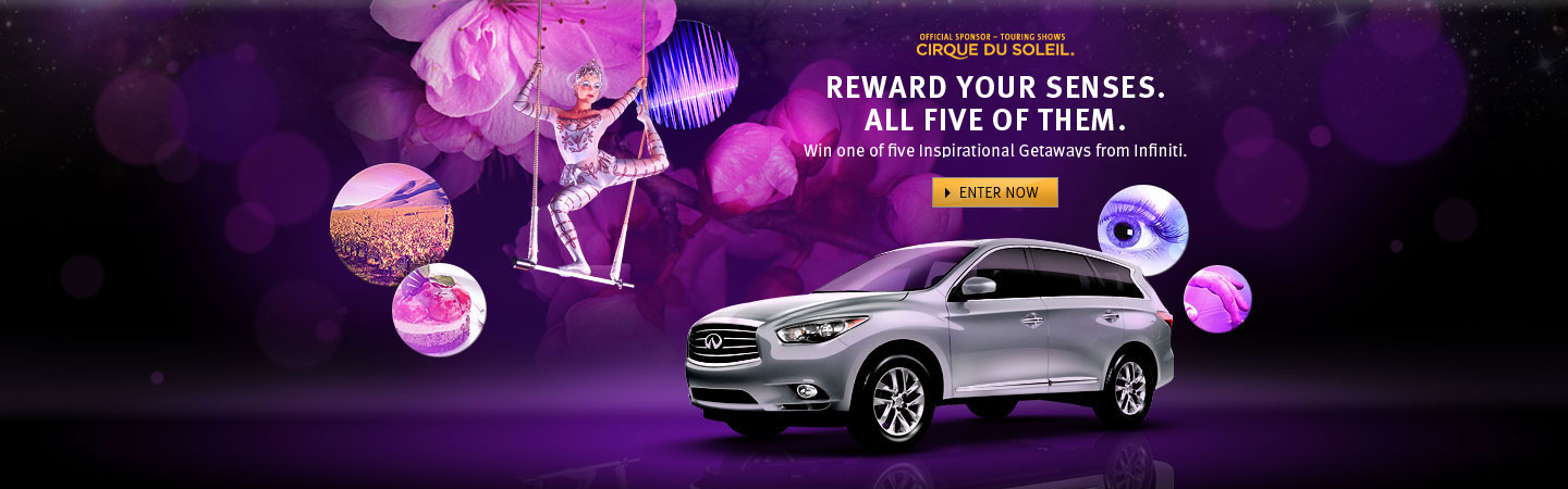 Win one of five Inspirational getaways from Infiniti.