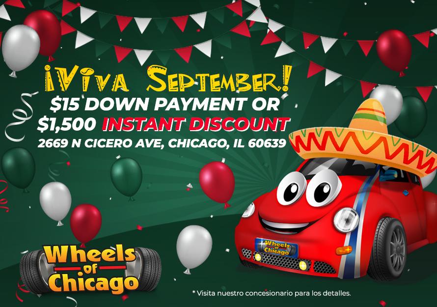 Promociones de Viva Septiembre - Wheels of Chicago | 2669 N Cicero Ave