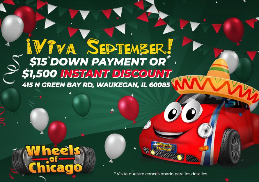 Promociones de Viva Septiembre  - Wheels of Chicago   415 N Green Bay Rd