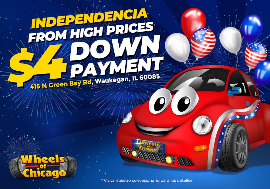 Promociones de Día de Independencia - Wheels of Chicago   415 N Green Bay Rd