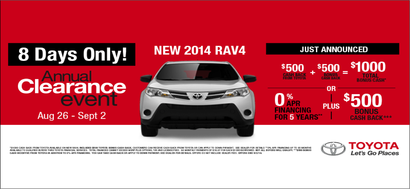 See the Rav4 today at RK Toyota!