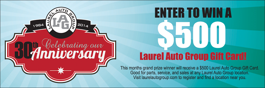 Win 500.00 Gift from Laurel Toyota in Johnstown PA 15904