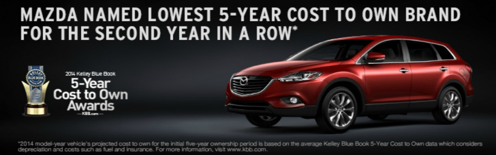 KBB Mazda lowest cost to own winner for 2 years