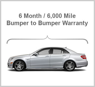 6 Month / 6,000 Mile Bumper to Bumber Waranty