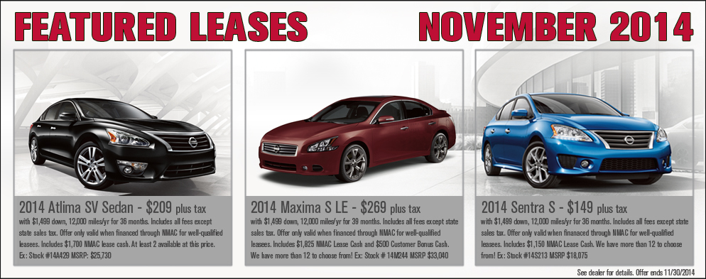 Featured Leases at O'Neil Nissan