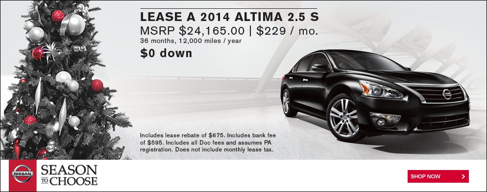 2014 Nissan Altima Lease