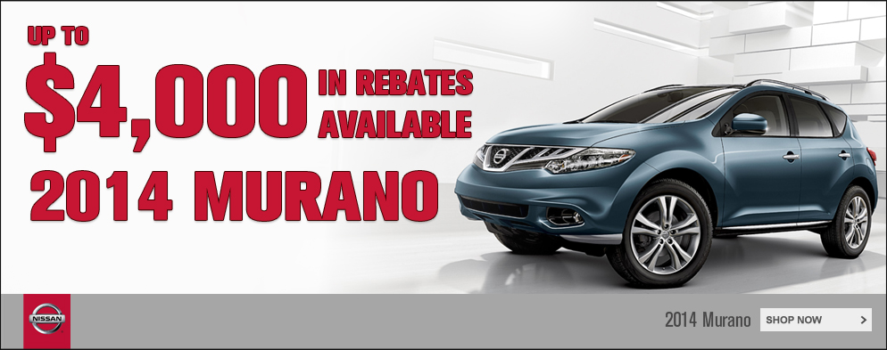 Up to $4,000 in rebates available on 2014 Murano