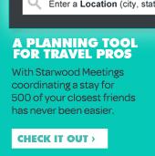 Visit starwoodmeetings.com