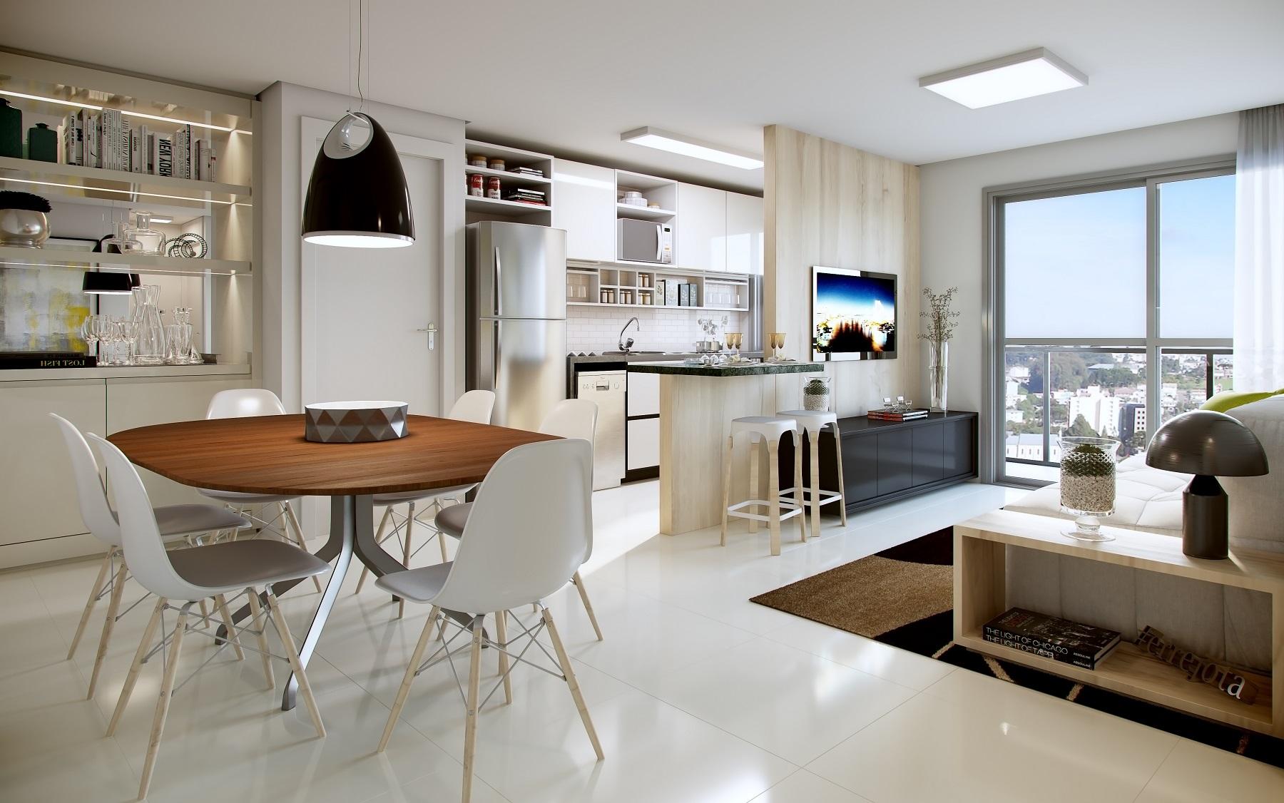 Perspectiva ilustrada apartamento 2 quartos
