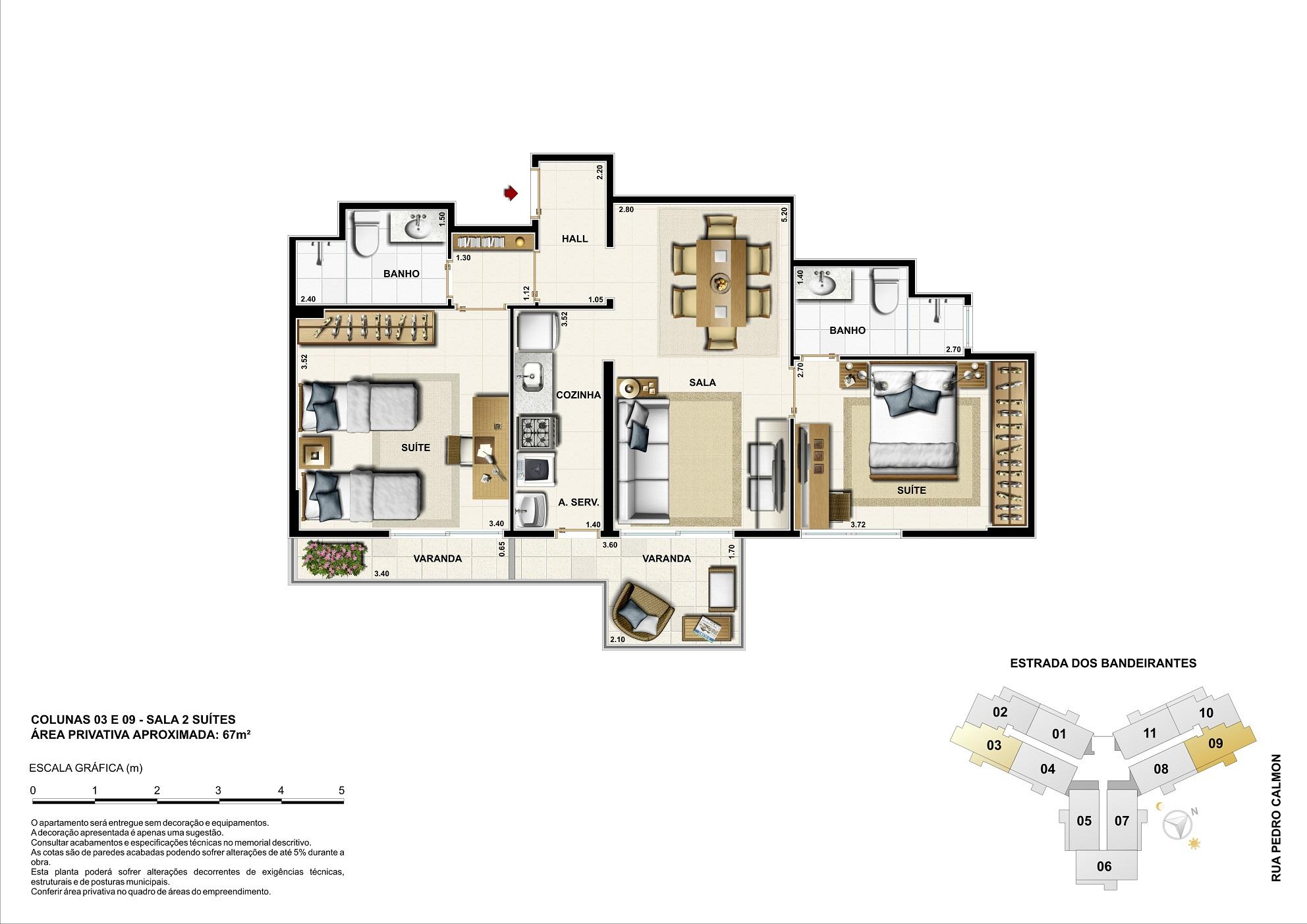 Opção residencial - 67m²