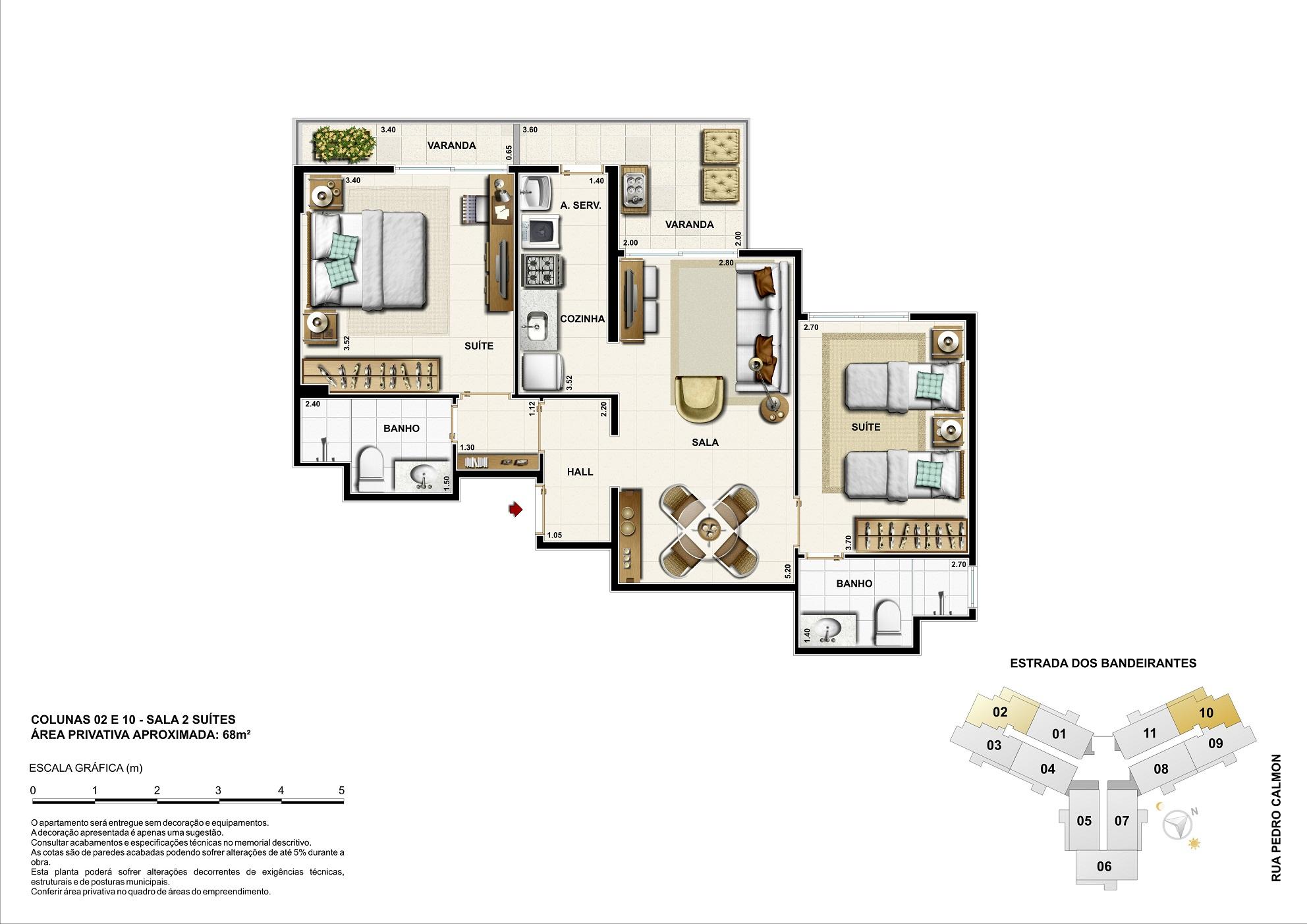 Opção residencial - 68m²