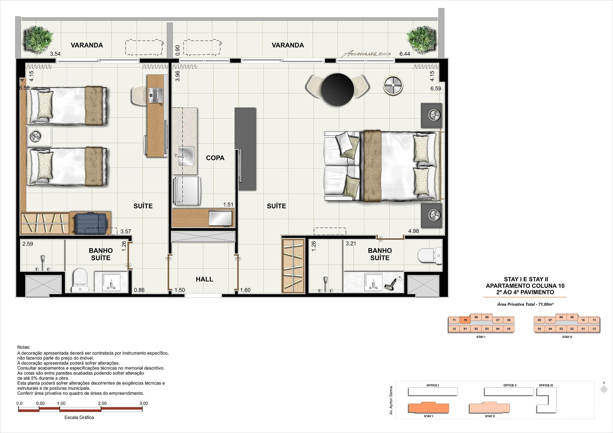 Apartamento - 71m²