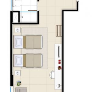 Suíte Tipo - 30 m²