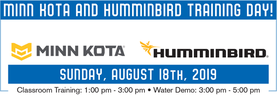 Minn Kota/Humminbird Training Day - Sunday.