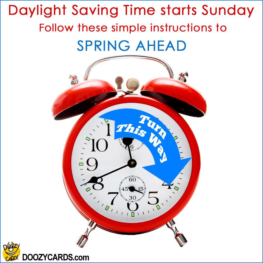 Daylight Saving Time Instructions