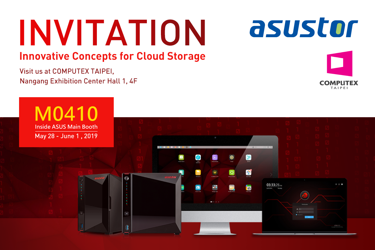 ASUSTOR Computex Invitation