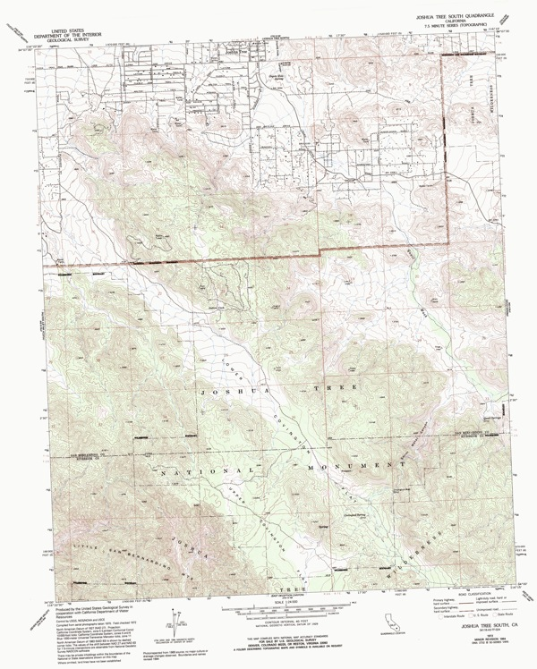 Joshua Tree Topographic Map.Joshua Tree South Avenza Systems Inc Avenza Maps