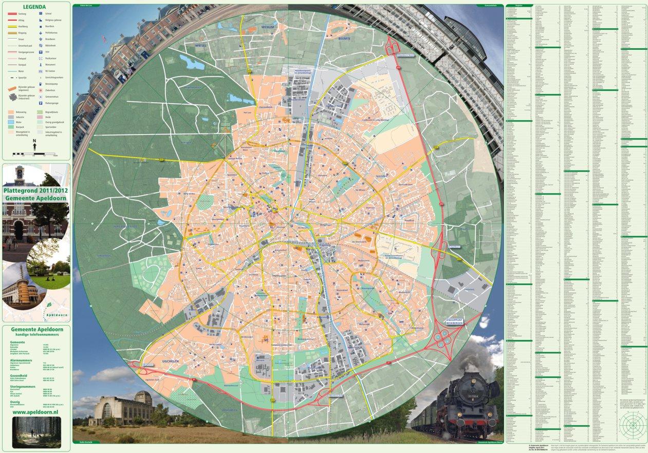 Plattegrond Apeldoorn Gemeente Apeldoorn Avenza Maps