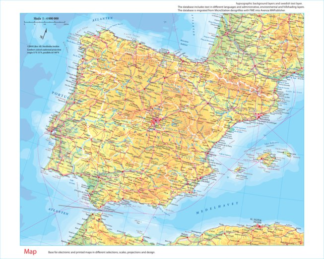 Iberian Peninsula - Liber AB - Avenza Maps