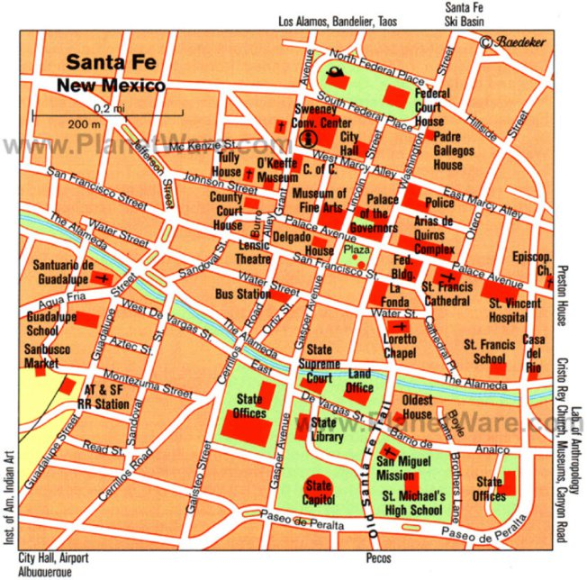 Santa Fe NM Downtown Avenza Systems Inc Avenza Maps